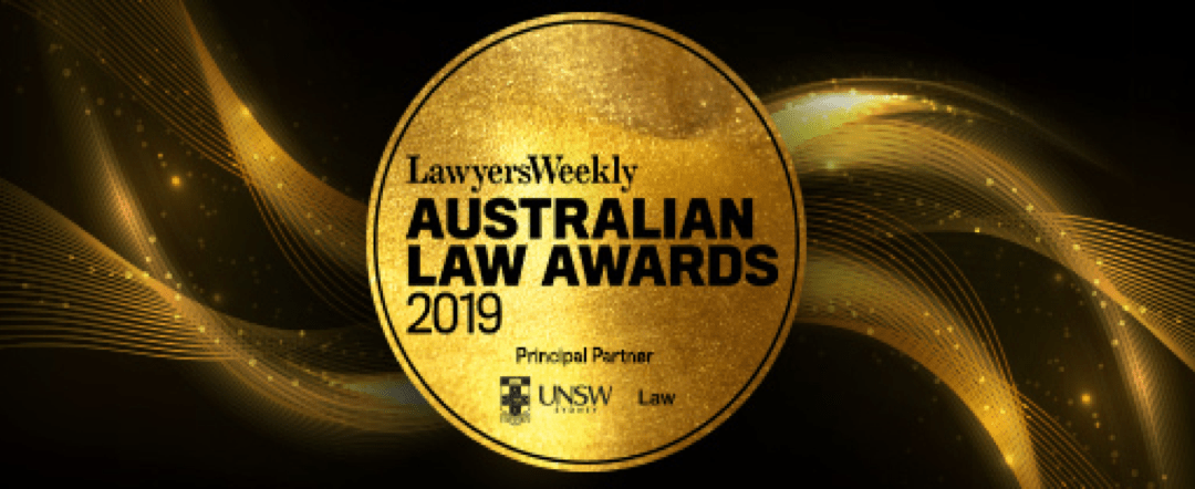 Rising Star of the Year Award – Australian Law Awards 2019